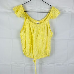 Seed Teen Yellow Floral Blouse Top Size 16